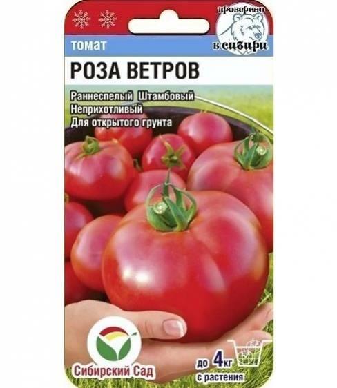 Томат роза ветров: описание и характеристика сорта, урожайность с фото