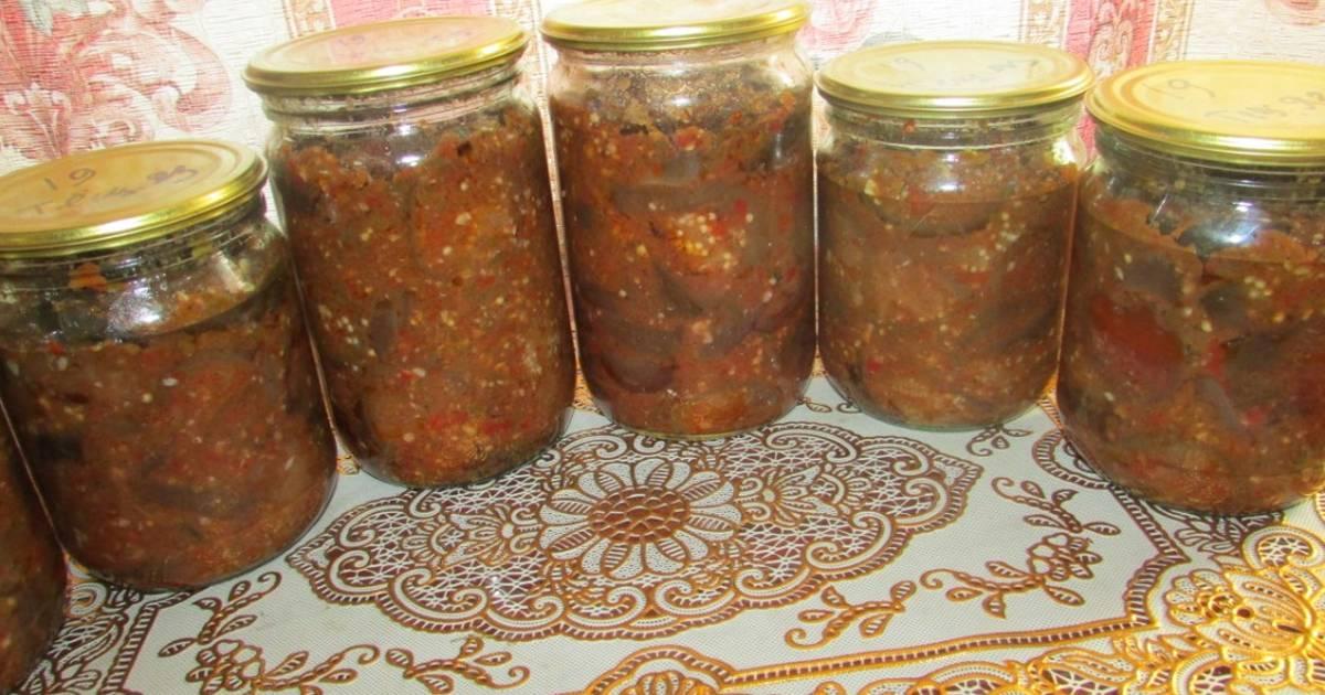 Баклажаны на зиму «тещин язык» рецепт с фото