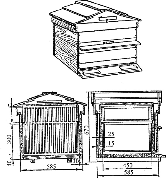 Улей-лежак на 24 рамки: размеры, чертежи, изготовления своими руками, видео