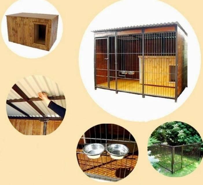 Вольеры для собак: варианты конструкции