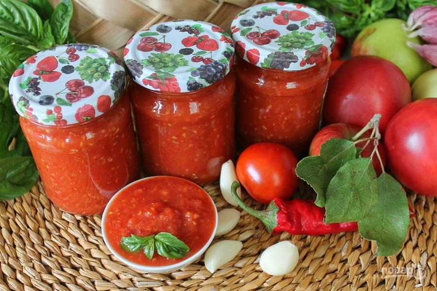 Как сделать горлодер с чесноком из помидоров на зиму – самые вкусные рецепты