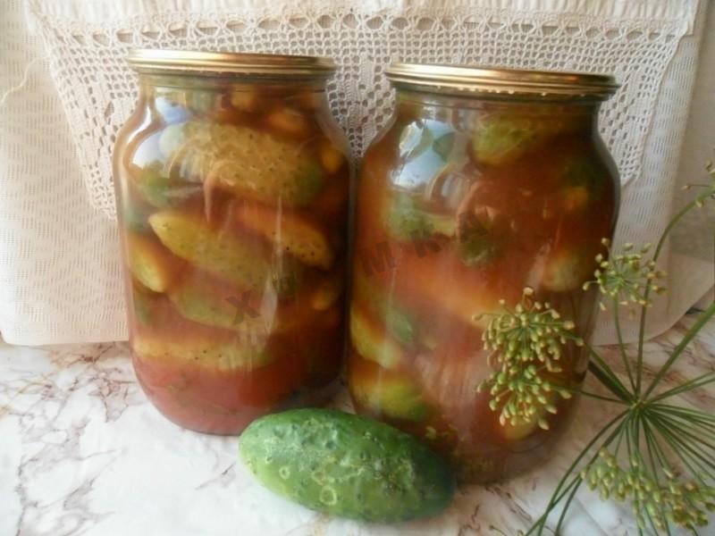 Огурцы на зиму с кетчупом чили без стерилизации: рецепт консервирования с острым соусом, как правильно закрыть резаные кусочками, хрустящие в томатной заливке