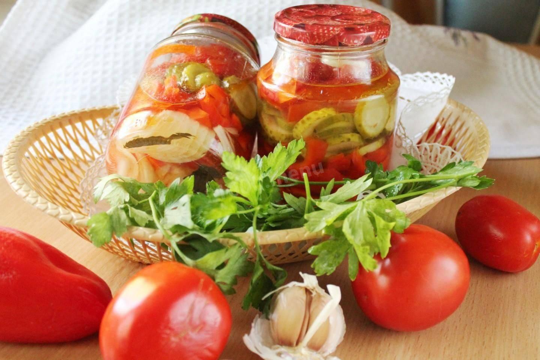 Салат из помидоров на зиму - 19 рецептов салата пальчики оближешь