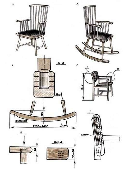Кресло-качалка своими руками из фанеры