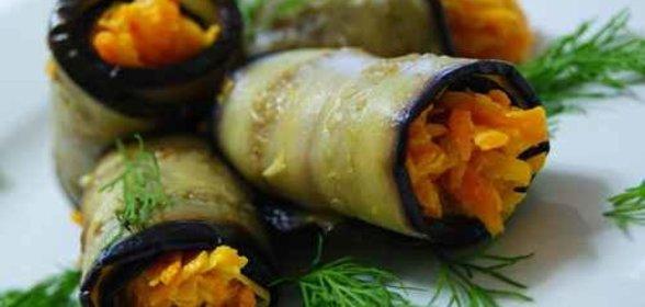 Баклажаны — 4 быстрых и вкусных рецепта (как грибы, по-корейски, рулетики)
