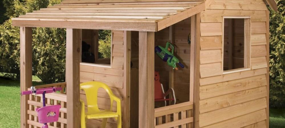 Как сделать детский домик на дачном участке своими руками