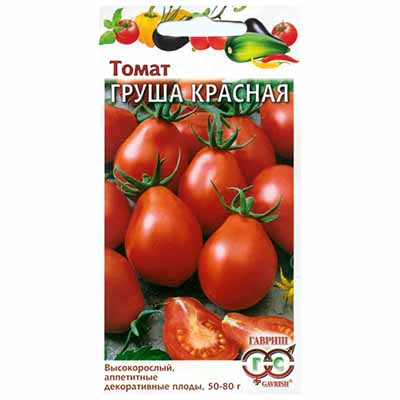 Описание оригинального томата Груша красная и рекомендации по выращиванию сорта