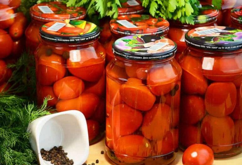 Через сколько дней можно есть консервированные помидоры. pravilnohranuedy.ru