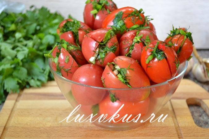 Фаршированные бурые помидоры по армянски. быстрые помидоры по-армянски
