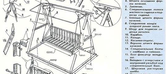 Как сварить качели на даче своими руками из металла