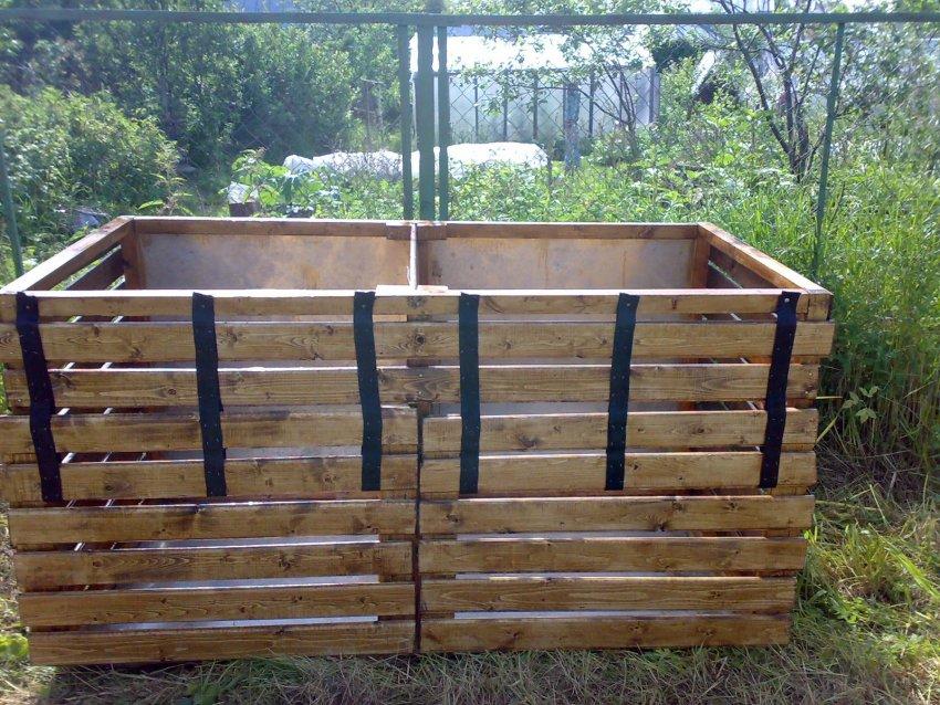 Изготовление ящика для компоста своими руками   50 фото