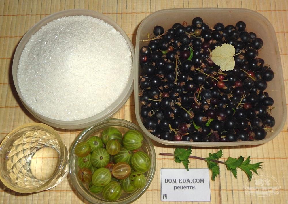 3 лучших рецепта приготовления варенья из черной смородины и крыжовника на зиму