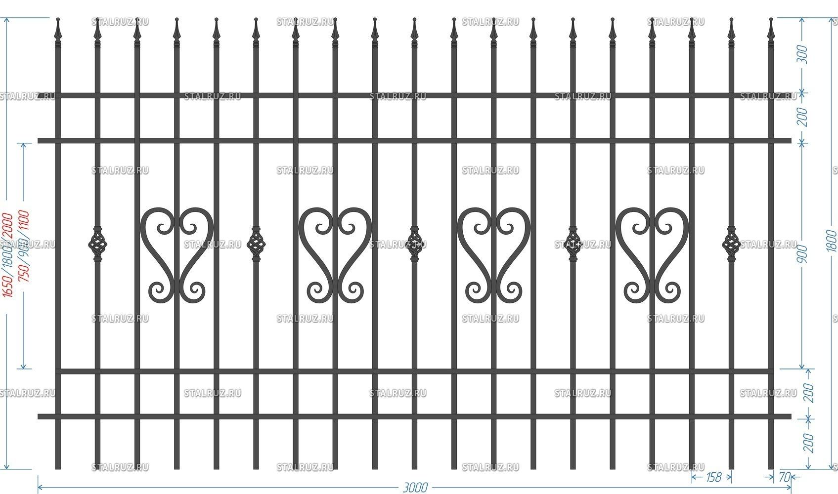 Металлический забор (секционный) - установка сварных 3d секций, фото