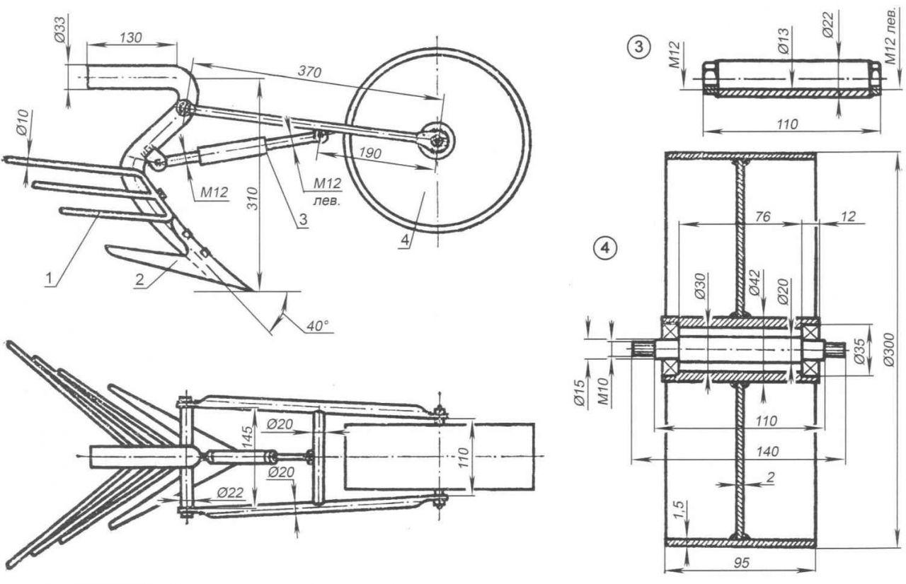 Как сделать минитрактор из мотоблока: самоделки для моторизированных блоков