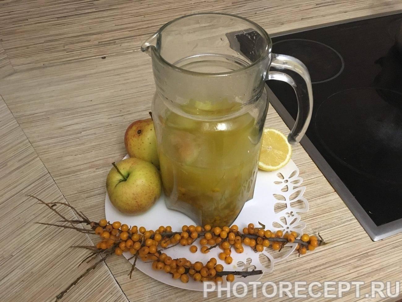 Компот из облепихи и яблок: топ 4 рецепта приготовления на зиму в домашних условиях