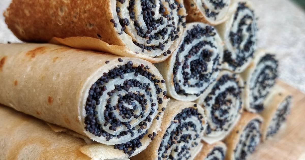 Блинчики с маком: простые рецепты изысканного десерта