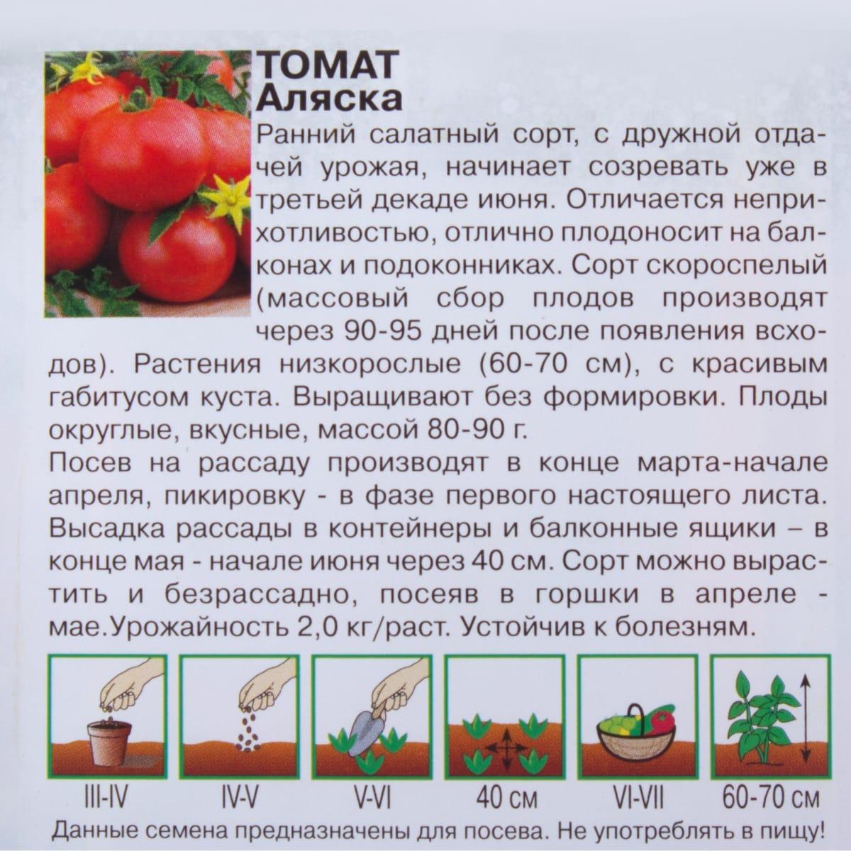 Урожайность, характеристика и описание сорта томата аляска - всё про сады
