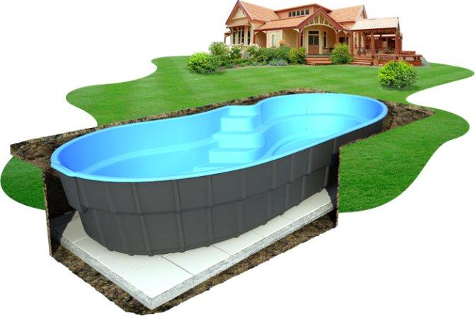 Бетонное основание под каркасный бассейн: как сделать площадку из бетона, что положить или постелить сверху?