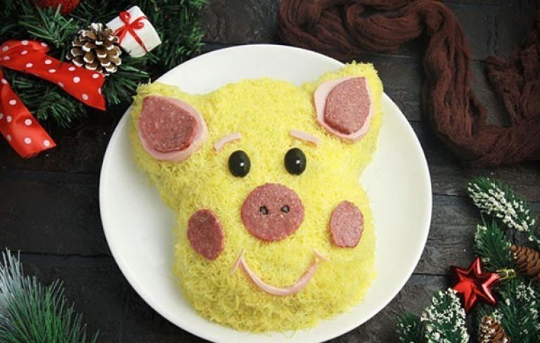 Салаты в виде свиньи на новый год 2019 - 5 новых и интересных рецептов