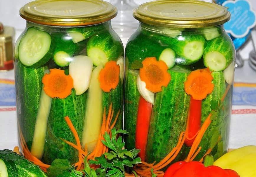 Лучшие рецепты приготовления маринованных огурцов с морковью и луком на зиму