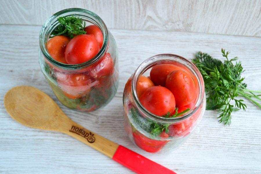 Рецепт помидоров, маринованных с морковной ботвой - 9 пошаговых фото в рецепте