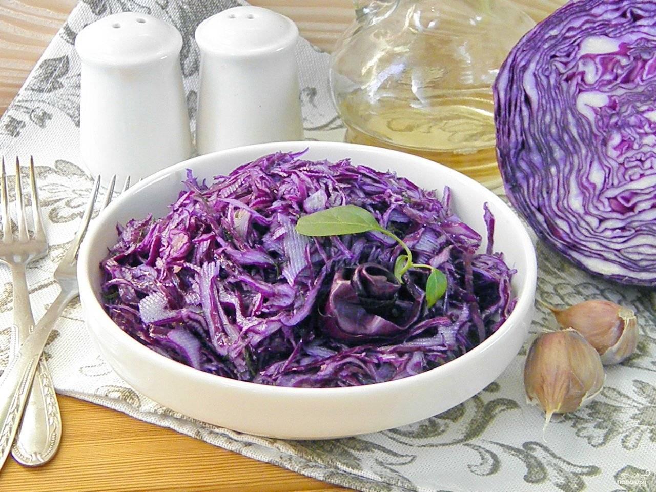 Вкусные рецепты маринования краснокочанной капусты быстрого приготовления в банках на зиму