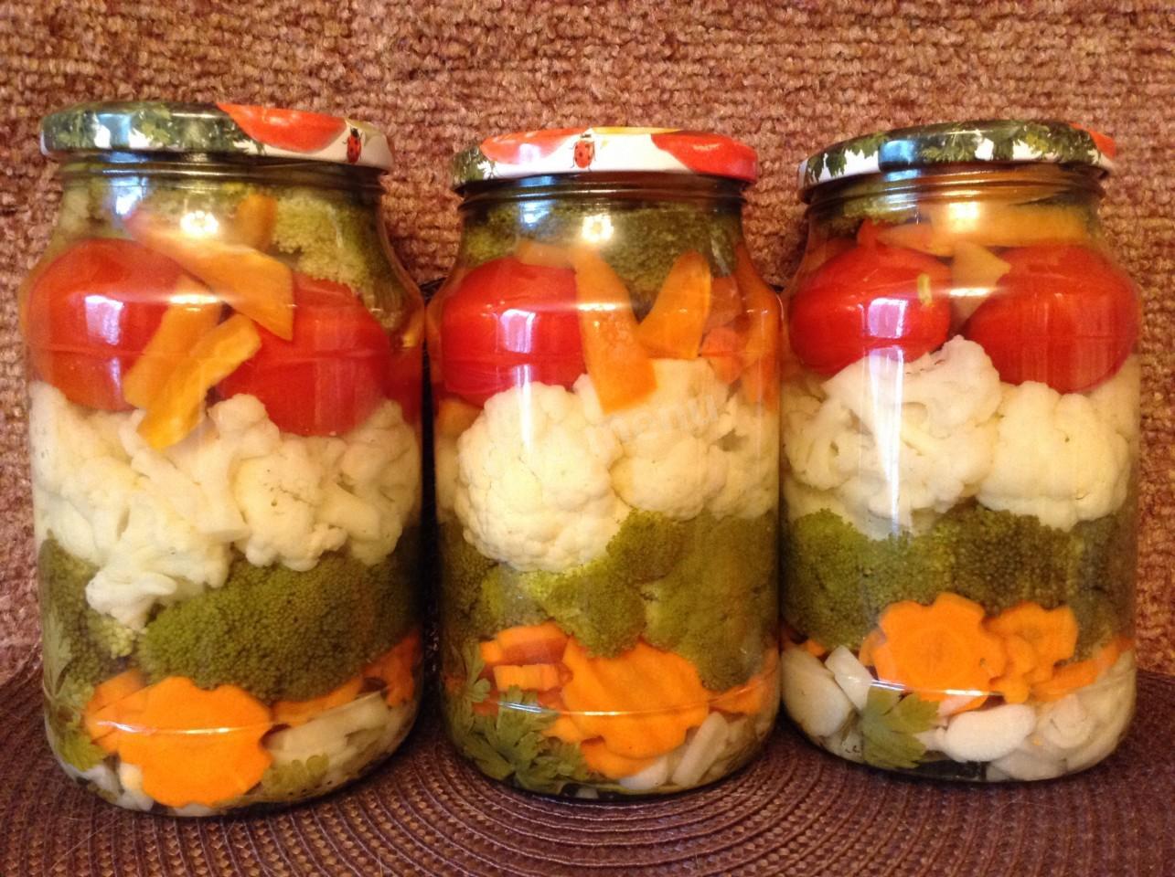 Заготовки из капусты брокколи на зиму / заготовочки