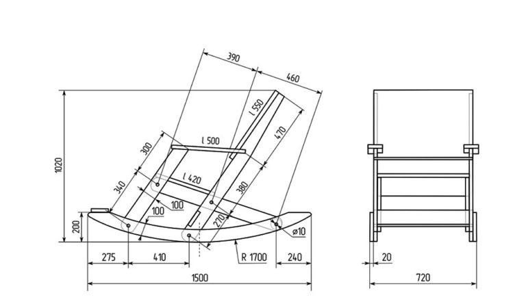 Кресло-качалка из фанеры своими руками (28 фото): чертежи, ход работы. выбираем размер кресла-качалки. как сделать самому с помощью лекала?