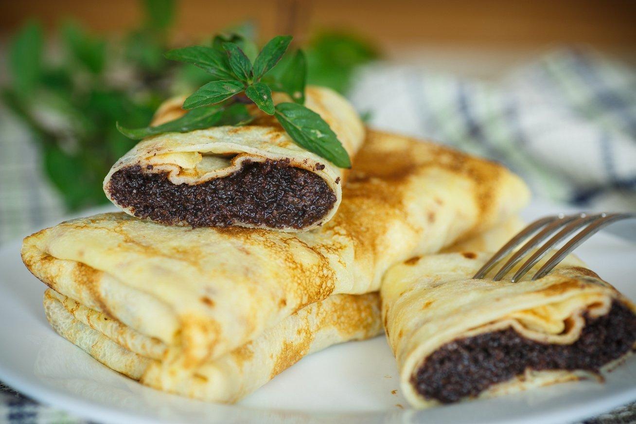 Блины с маком - пошаговый рецепт с фото    десерты