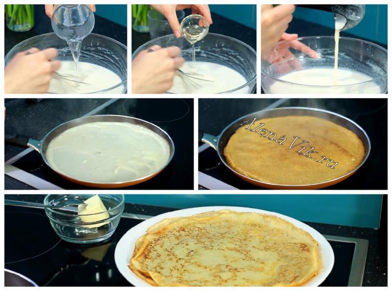Блинчики на молоке: рецепт с фото пошагово