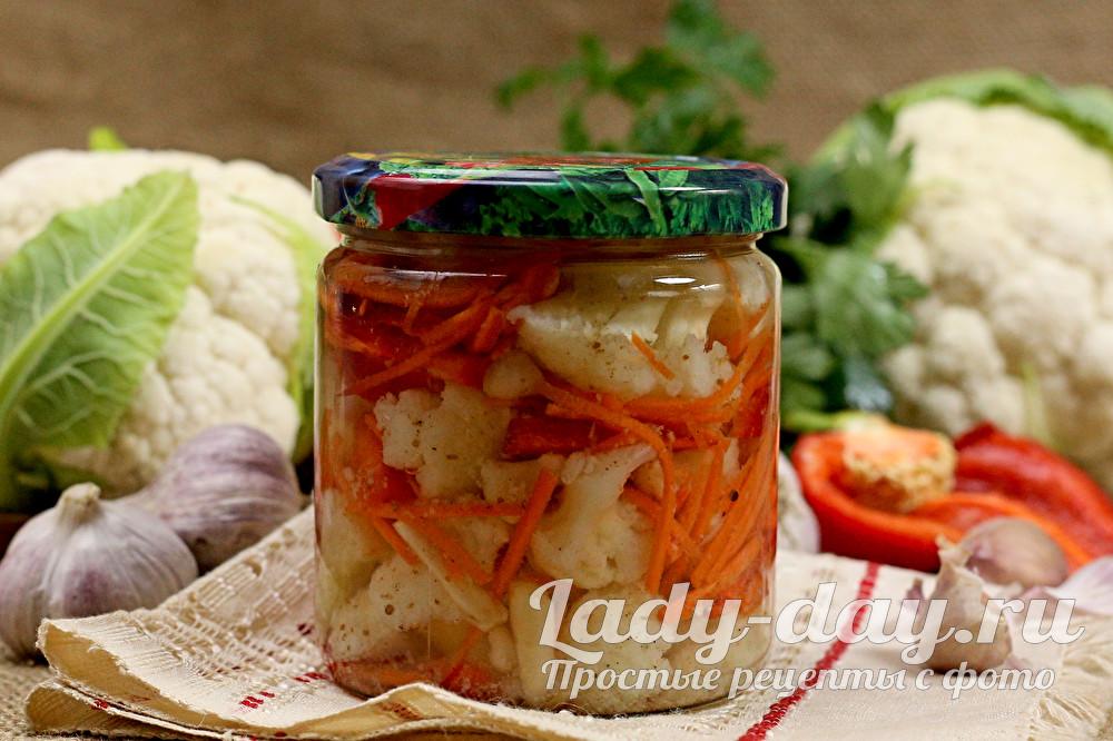 Маринованная цветная капуста по-корейски — рецепты на любой вкус
