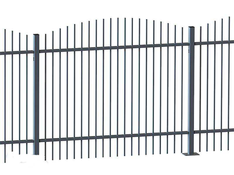 Металлический забор (72 фото): установка секционного железного ограждения, универсальные ворота из металла