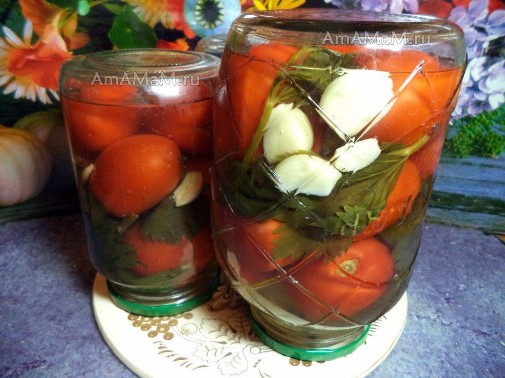 ТОП 7 рецептов маринованных помидоров с сельдереем и чесноком на зиму