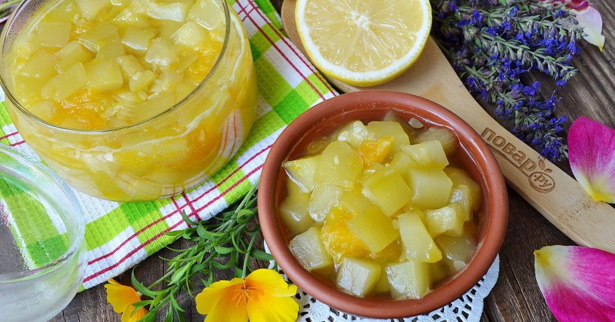 Джем из кабачков с лимоном: 4 пошаговых рецепта приготовления, условия хранения