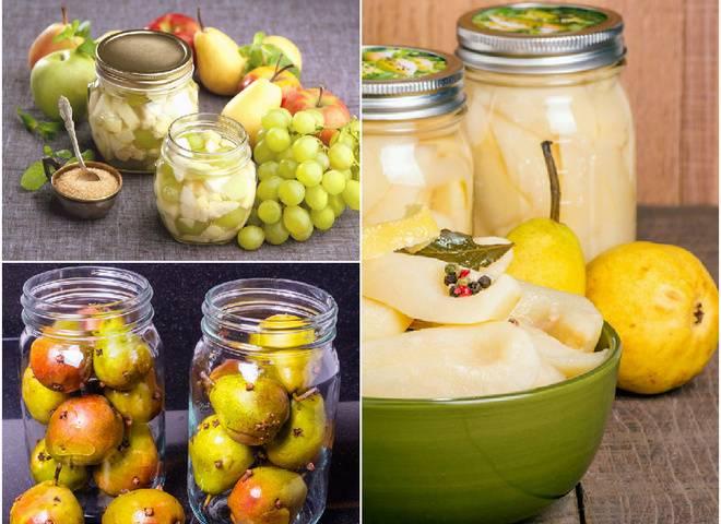 13 простых рецептов приготовления на зиму маринованных груш