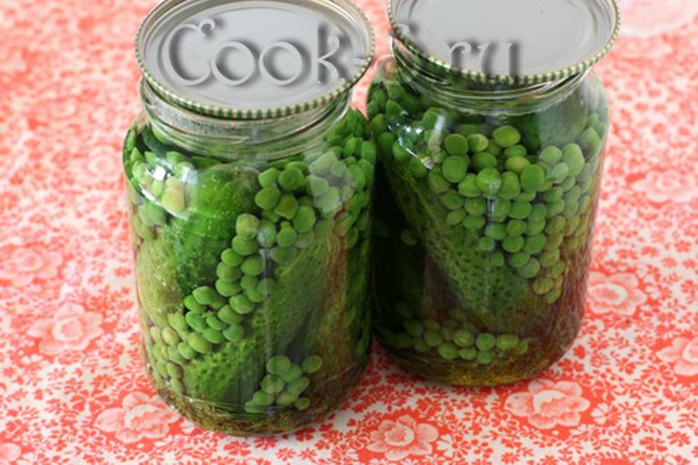 Огурцы с зеленым горошком на зиму: рецепты маринования с фото и видео