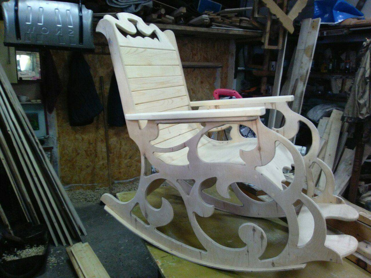 Кресло-качалка из фанеры - описание сборки своими руками
