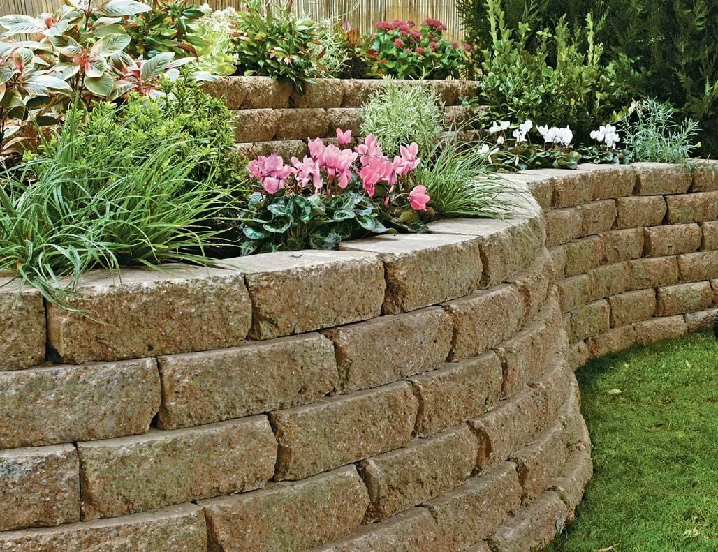 Клумба из камней своими руками - простые и стильные варианты создания для сада (155 фото)