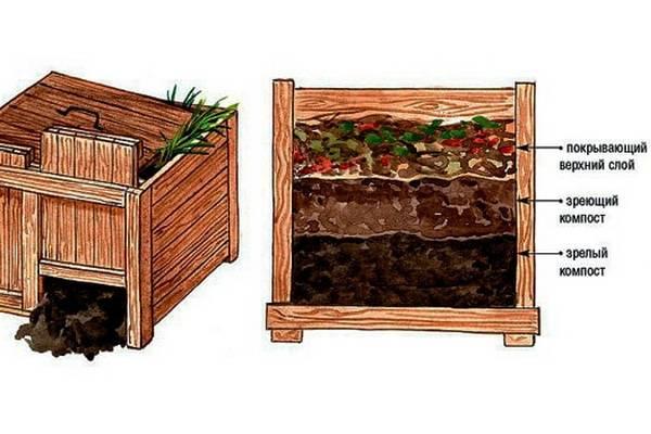 Компостный ящик своими руками варианты изготовления, чертежи, фото