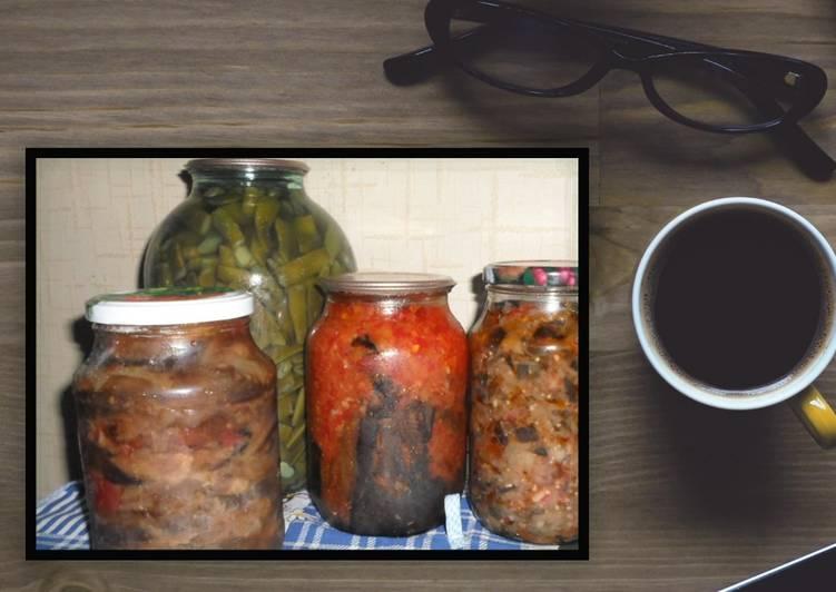 4 рецепта пошагового приготовления баклажанов с шампиньонами на зиму