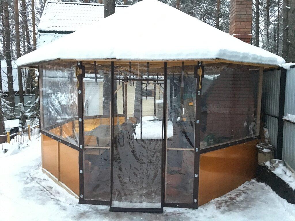 Зимняя беседка: варианты строительства