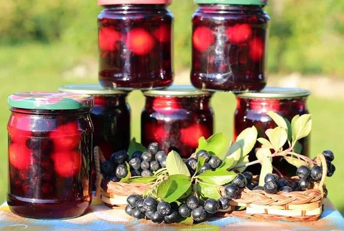 Компот из черноплодной рябины на зиму: простой рецепт приготовления, хранение