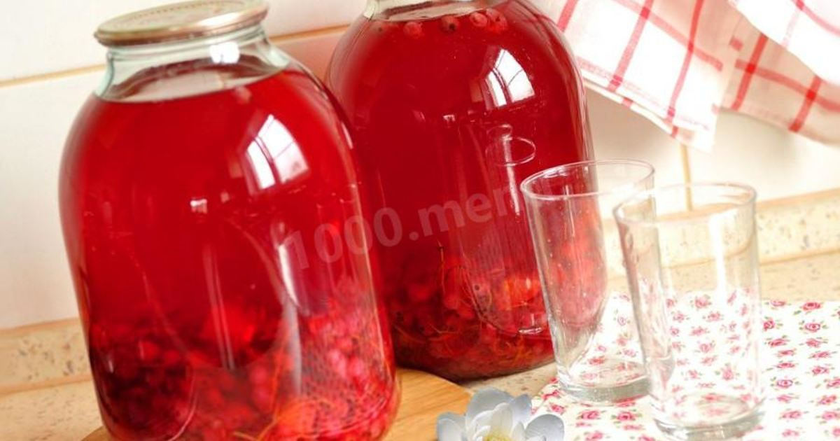 Компот из яблок и смородины на зиму: пошаговый рецепт с фото