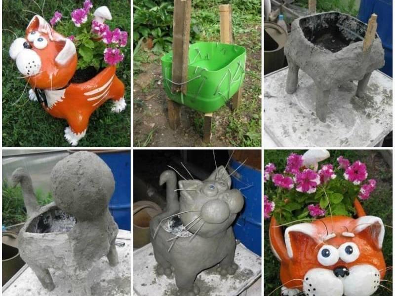 Садовые фигуры своими руками: пошаговые инструкции и схемы изготовления