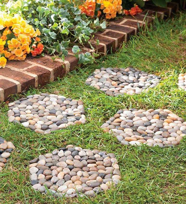 Клумба из камней: 125 фото и видео мастер-класс как своими руками создать каменную клумбу