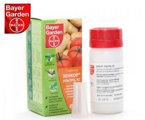 Инструкция по применению препарата зенкор от сорняков на картофеле
