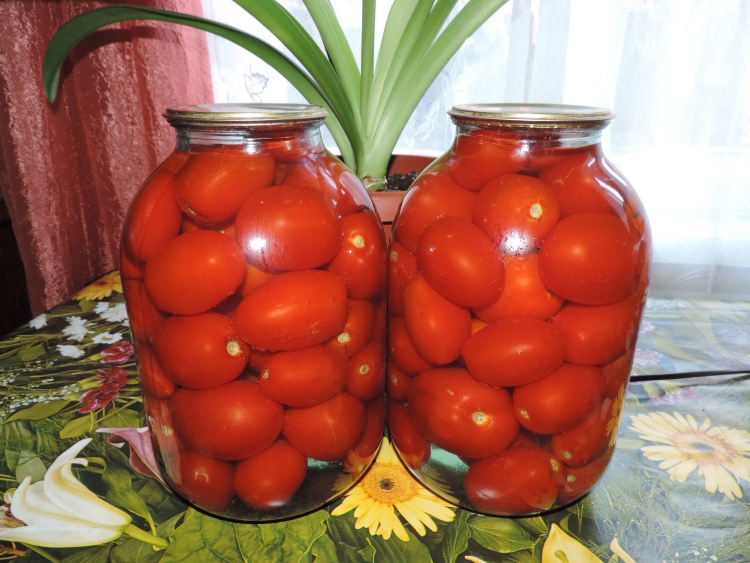 Маринованные помидоры на зиму сладкие на 1 литр маринада/ рецепт с фото