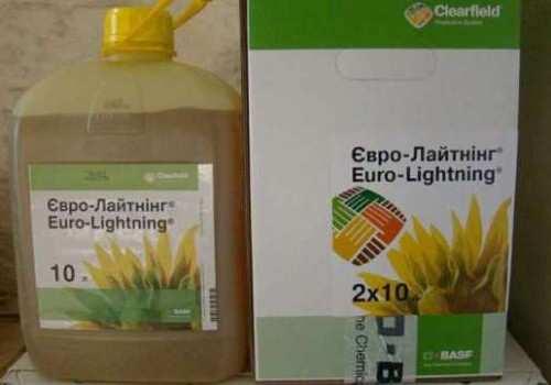 Применение гербицида евролайтинг под подсолнечник