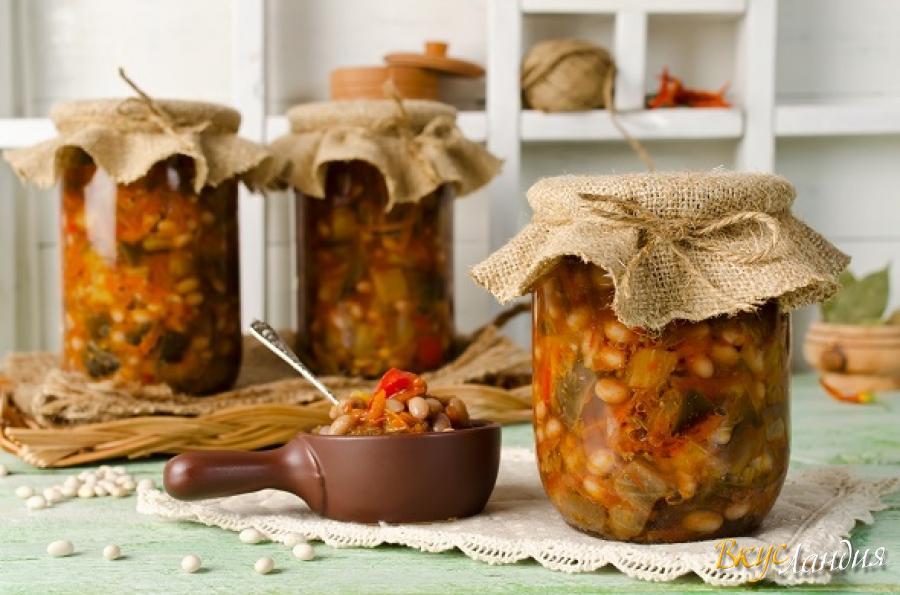 Закуска из фасоли на зиму - прекрасный гарнир к мясу: рецепт с фото и видео