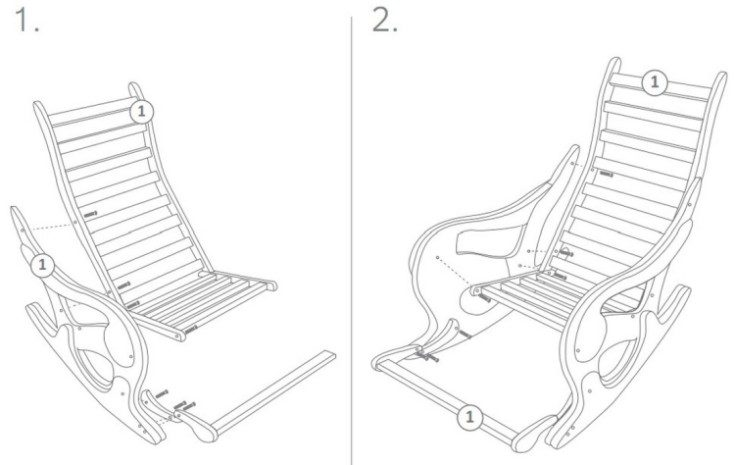 Как правильно сделать кресло-качалку из дерева своими руками? чертеж с размерами и детальное описание процесса
